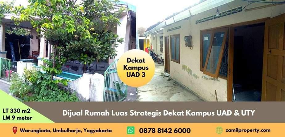 Dijual Rumah Luas Strategis Dekat Kampus UAD & UTY